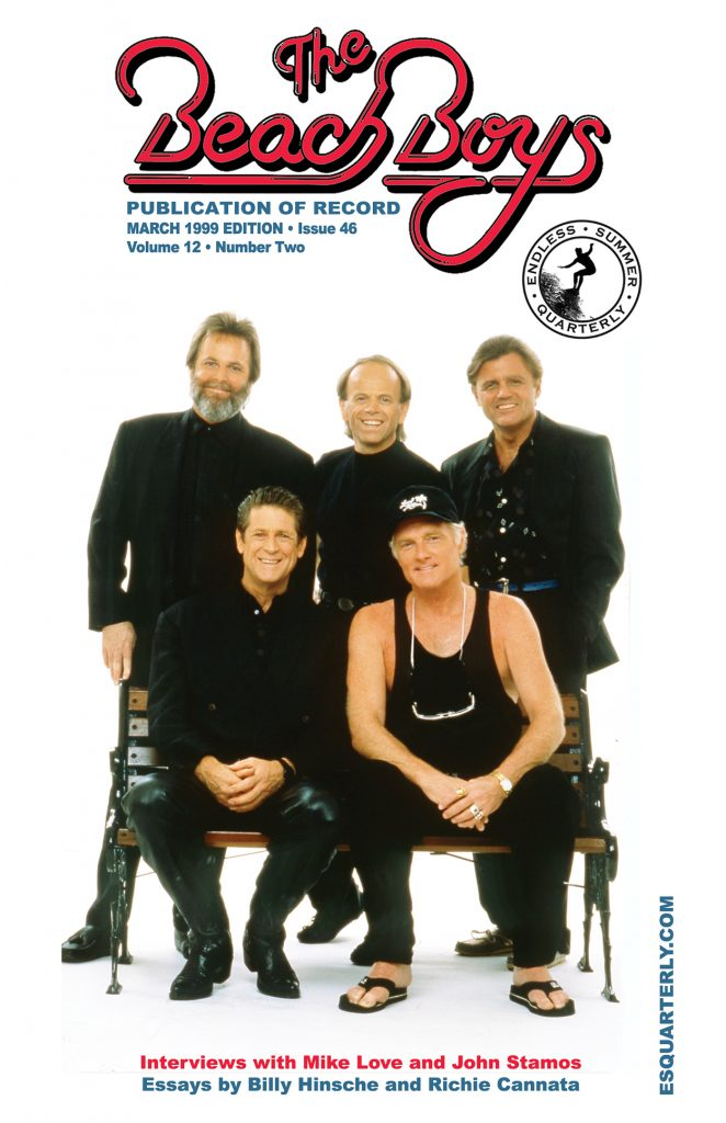 SPRING 1999, Issue #46: MIKE LOVE, JOHN STAMOS, BILLY HINSCHE and RICHIE CANNATA *updated cover