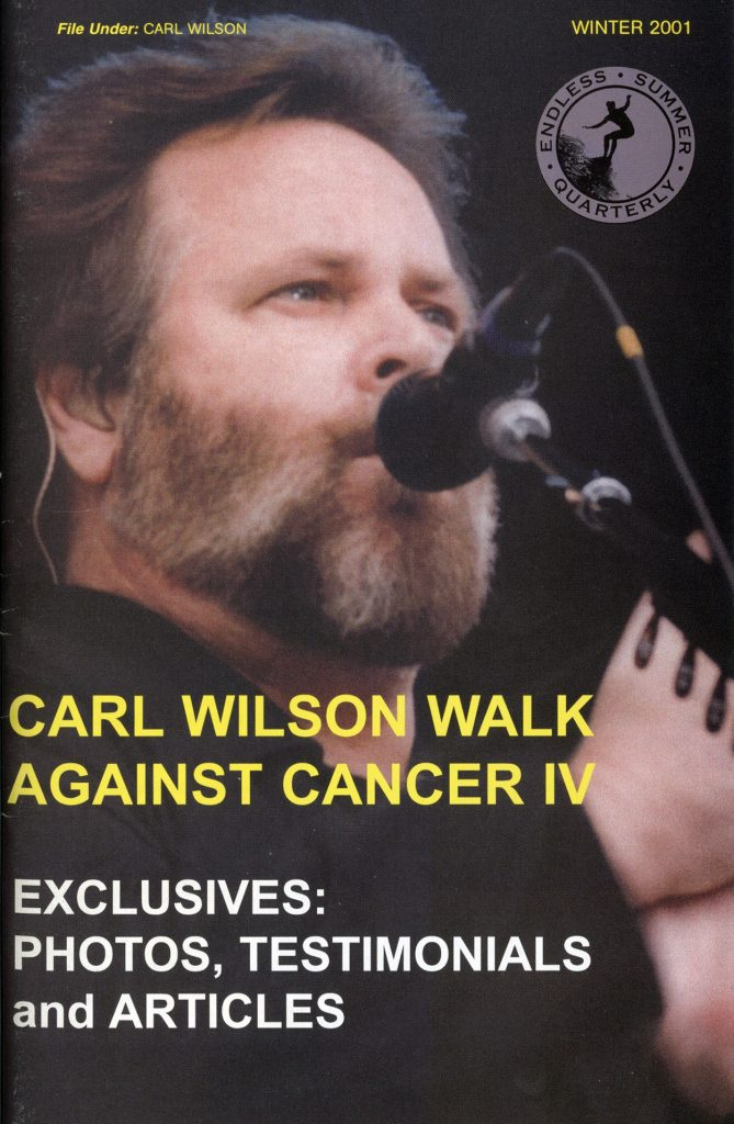 WINTER 2001, Issue #57: CARL WILSON – Walk Against Cancer IV coverage