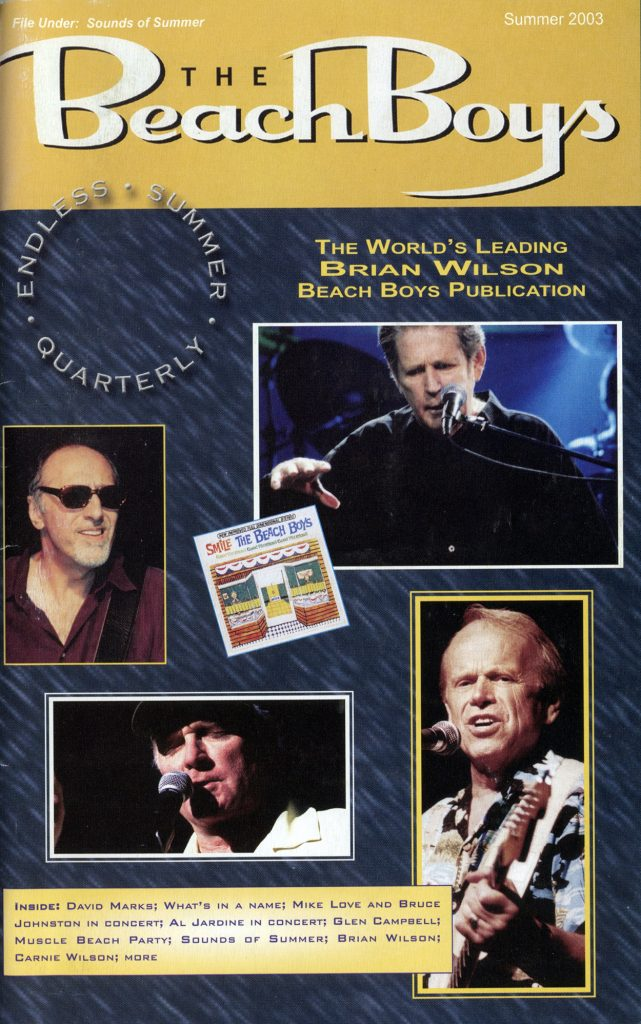 SUMMER 2003, Issue #62: DAVID MARKS, GLEN CAMPBELL, CARNIE WILSON
