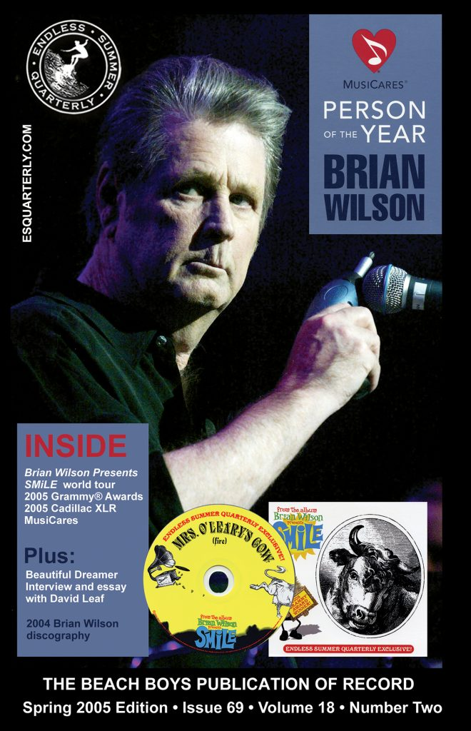 SPRING 2005, Issue #69: BRIAN WILSON – Grammy® winner and MusicCares® Person of The Year with collectible CD *updated cover