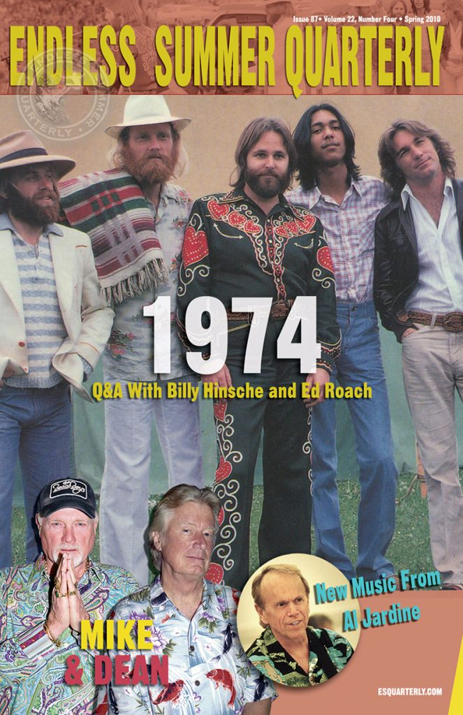 SPRING 2010, Issue #87: THE BEACH BOYS – 1974 + Mike & Dean (Alt. Cover)