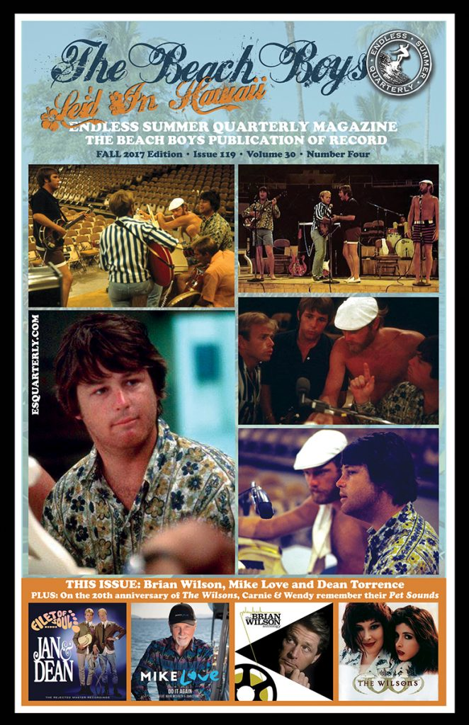FALL 2017, Issue #119: THE BEACH BOYS – Lei'd In Hawaii