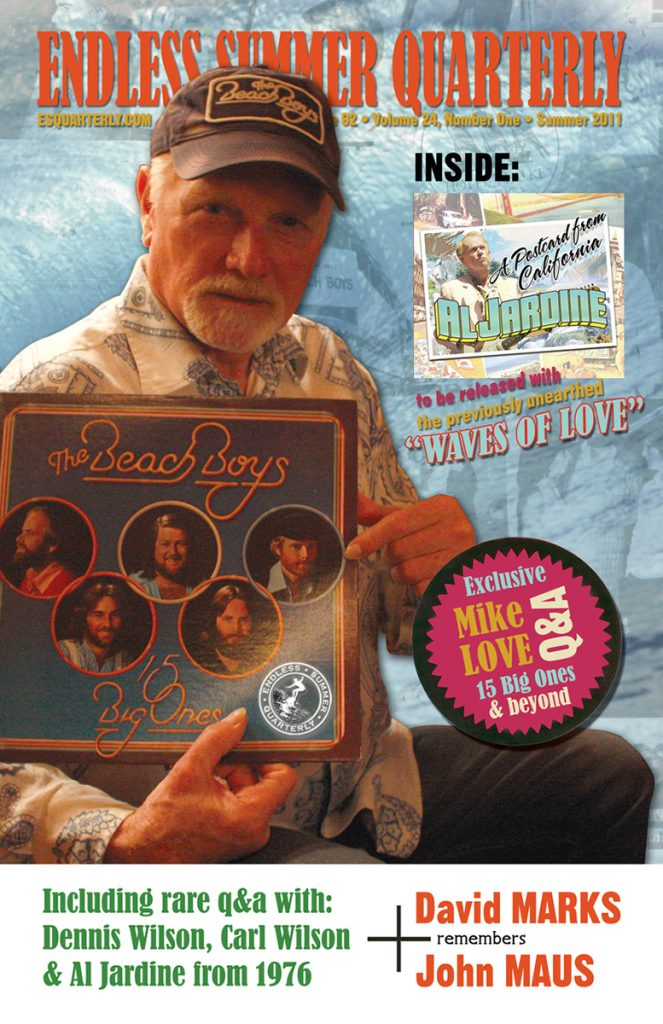 SUMMER 2011, Issue #92: THE BEACH BOYS – 15 Big Ones