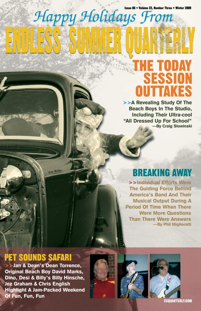 WINTER 2009, Issue #86: THE BEACH BOYS – Today! session outtakes (Alt. Cover)