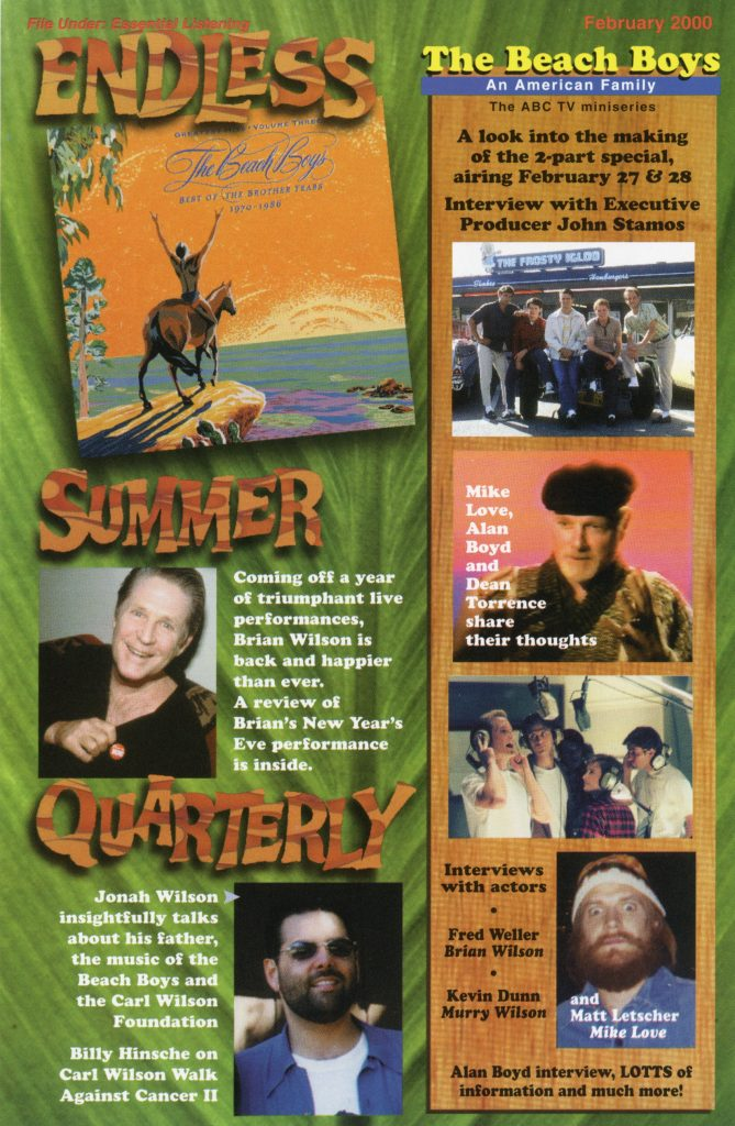 SPRING 2000, Issue #50: THE BEACH BOYS – An American Family (behind the scenes)