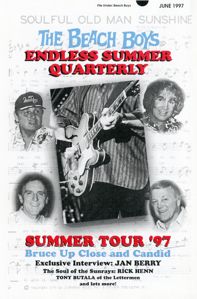 SUMMER 1997, Issue #39: THE BEACH BOYS – Bruce Johnston, Jan Berry, Rick Henn