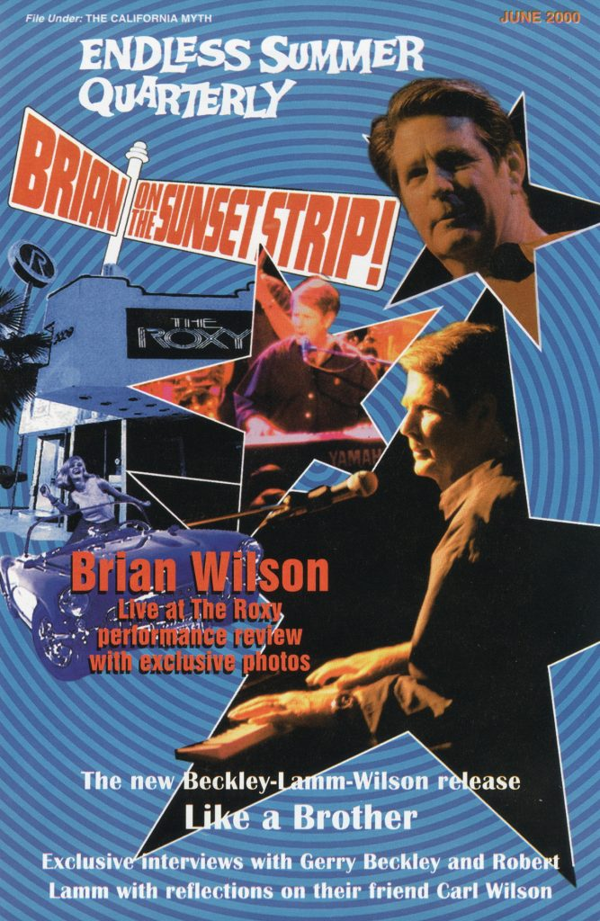 SUMMER 2000, Issue #51: BRIAN WILSON – Live At The ROXY + BECKLEY-LAMM-WILSON – Like A Brother