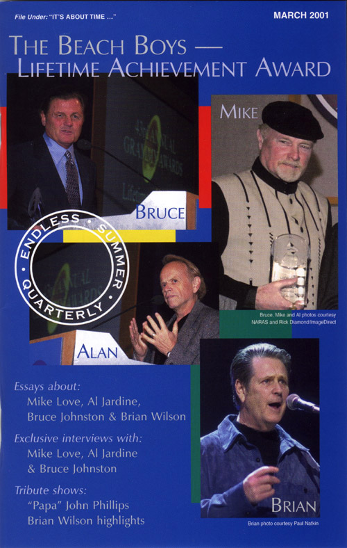 SPRING 2001, Issue #54: THE BEACH BOYS – Lifetime Achievement Award