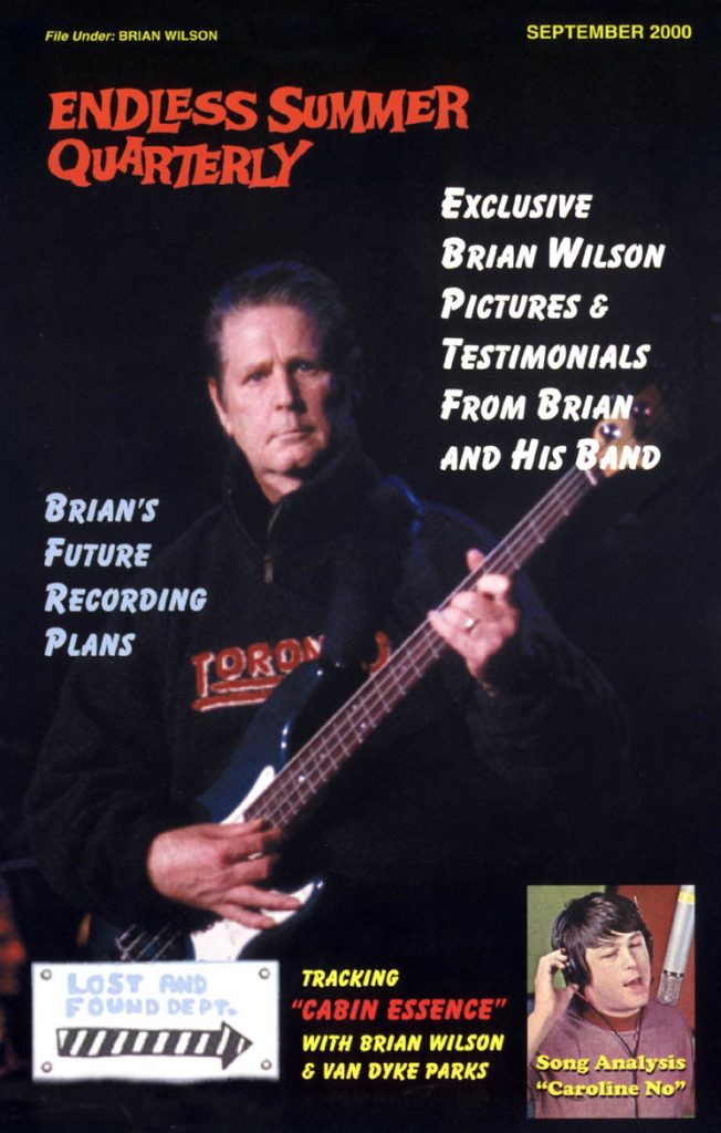 "FALL 2000, Issue #52: BRIAN WILSON discusses ""Cabin Essence"""