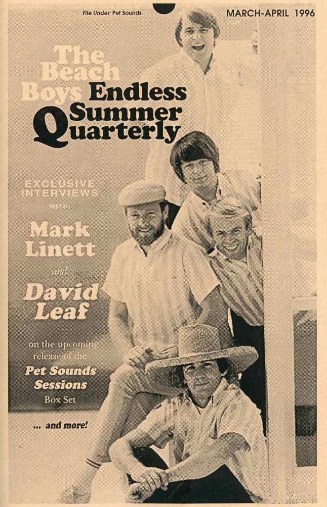 SPRING 1996, Issue #34: THE BEACH BOYS – Pet Sounds Sessions box set interviews