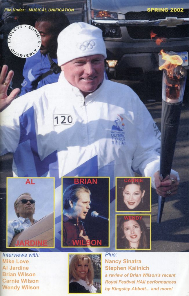 SPRING 2002, Issue #58: BRIAN WILSON, MIKE LOVE, AL JARDINE, CARNIE WILSON, WENDY WILSON, NANCY SINATRA