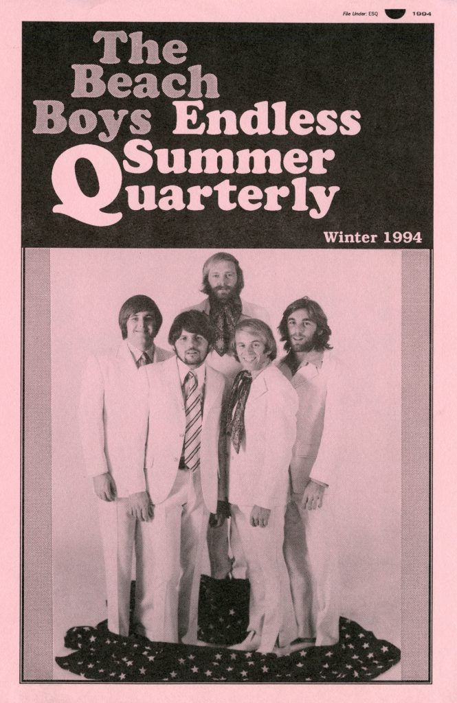 WINTER 1993/1994, Issue #26: THE BEACH BOYS – articles by Don Cunningham, Domenic Priore, Elliot Kendall