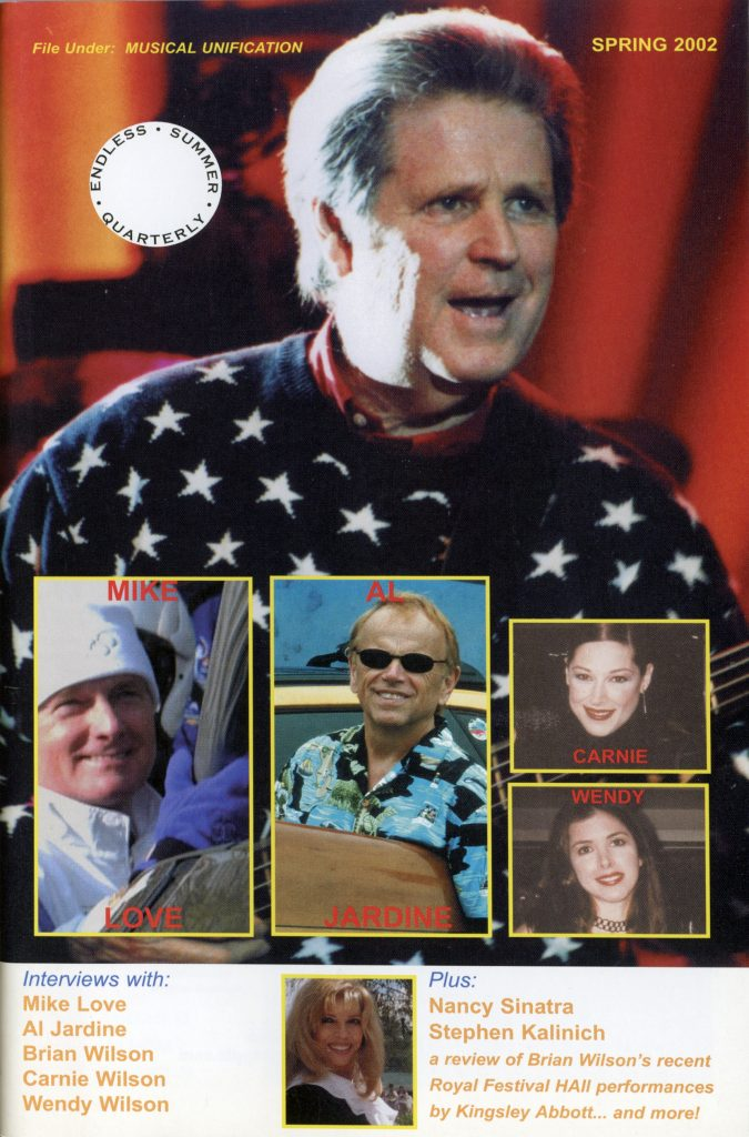 SPRING 2002, Issue #58: BRIAN WILSON, MIKE LOVE, AL JARDINE, CARNIE WILSON, WENDY WILSON, NANCY SINATRA (Alt. Cover)