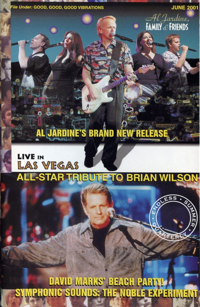 SUMMER 2001, Issue #55: AL JARDINE – Family & Friends, BRIAN WILSON – All-Star Tribute (Alt. Cover)